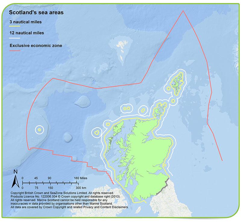 Scotlands Seas Scotlands Environment Web - Map of all the seas