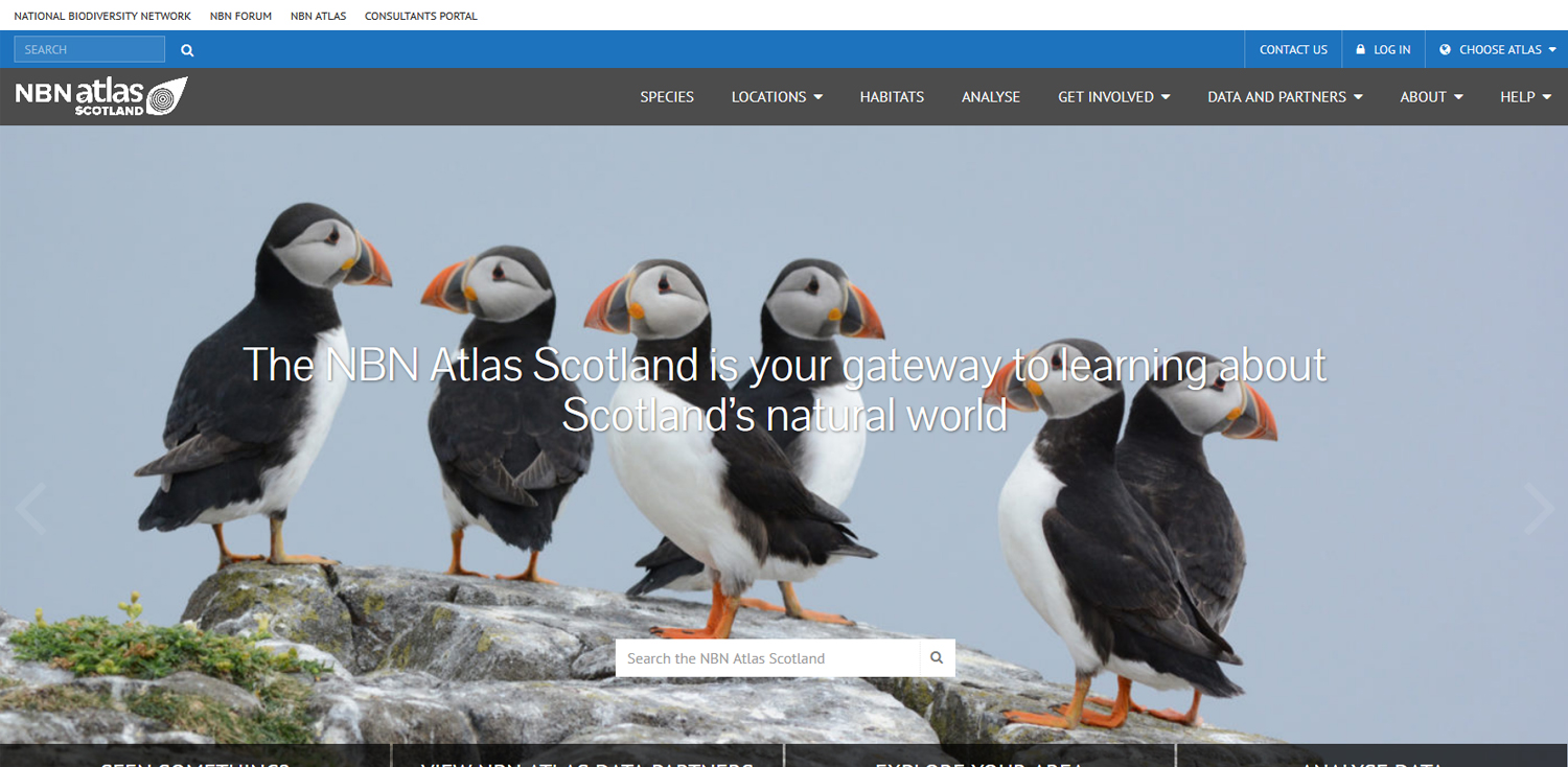The NBN Atlas Scotland - bringing information on Scotland's nature to you