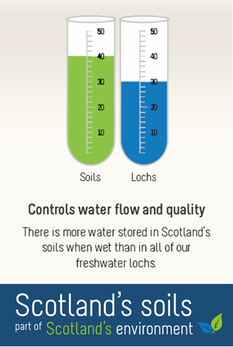 Scotland's soils - World Water Day - Controls water flow and quality