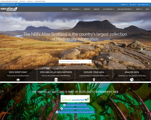NBN Atlas Scotland website - homepage